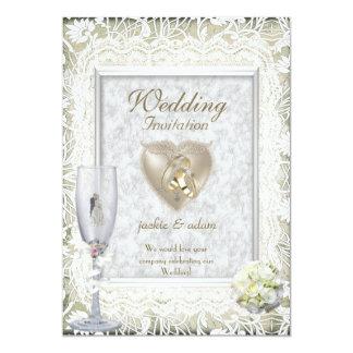 """El boda elegante invita invitación 5"""" x 7"""""""