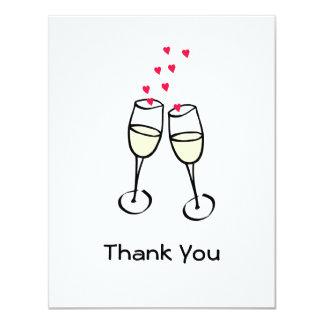El boda elegante le agradece tarjeta plana anuncio personalizado