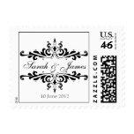 El boda elegante nombra el sello de la fecha