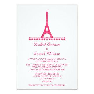 """El boda elegante parisiense invita, pica invitación 5"""" x 7"""""""