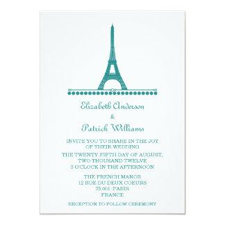 """El boda elegante parisiense invita, trullo invitación 5"""" x 7"""""""
