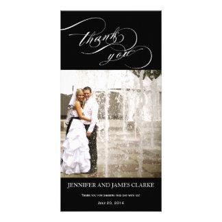 El boda elegante personalizado de la escritura le tarjeta fotografica