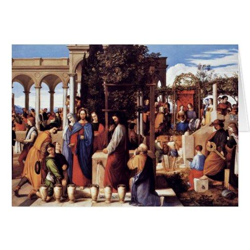 El boda en Cana de Julio Schnorr Von Carolsfe Tarjetón