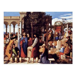 El boda en Cana de Julio Schnorr Von Carolsfe Tarjeta Postal