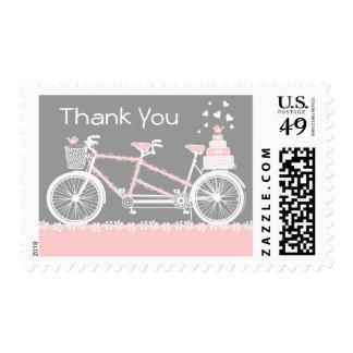El boda en tándem de la bicicleta le agradece fran