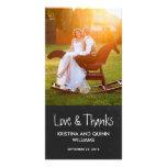 El boda encantador de la pizarra le agradece tarje tarjeta personal con foto