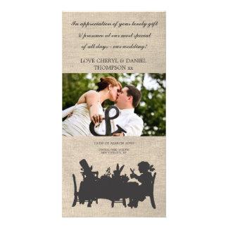El boda enojado de la fiesta del té de los plantilla para tarjeta de foto