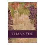 El boda envejecido del viñedo de la uva le agradec felicitaciones
