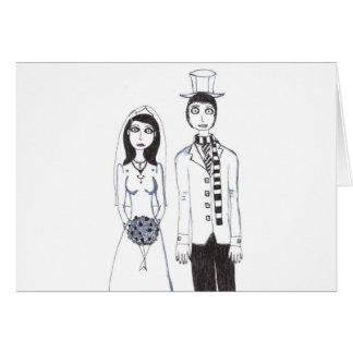 El boda espeluznante, gracias las tarjetas