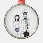 El boda espeluznante ornamentos para reyes magos
