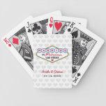 El boda favorece el | casado en Las Vegas Barajas De Cartas