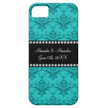 El boda favorece el damasco de la turquesa iPhone 5 fundas