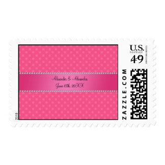 El boda favorece lunares rosados sellos