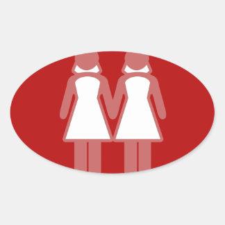 El BODA FEMENINO FIGURA el rojo - .png Calcomanías De Ovales Personalizadas