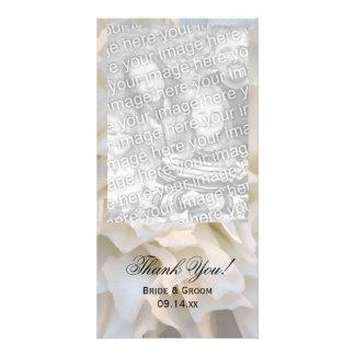 El boda floral blanco le agradece tarjeta de la tarjetas personales
