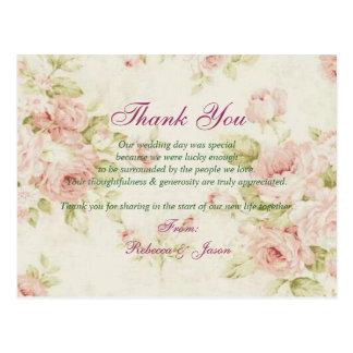 el boda floral color de rosa rosado elegante del postales