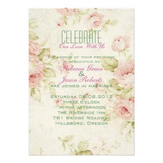 el boda floral color de rosa rosado elegante del v