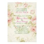 el boda floral color de rosa rosado elegante del v comunicados