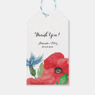 El boda floral de encargo le agradece favorecer etiquetas para regalos