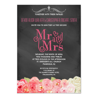 El boda floral de la acuarela de la caída de la comunicados personales
