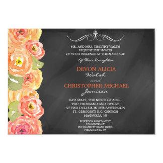 El boda floral de la acuarela de la caída de la invitaciones personalizada