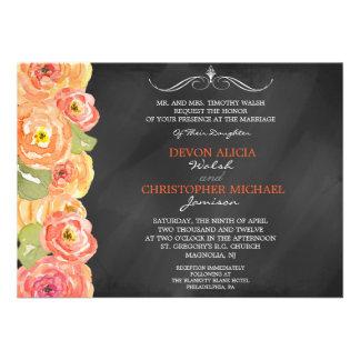 El boda floral de la acuarela de la caída de la pi invitaciones personalizada