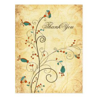 el boda floral de la aguamarina rústica del postales