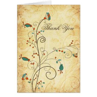 el boda floral de la aguamarina rústica del tarjeta de felicitación