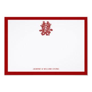 El boda floral de la felicidad doble china le invitación