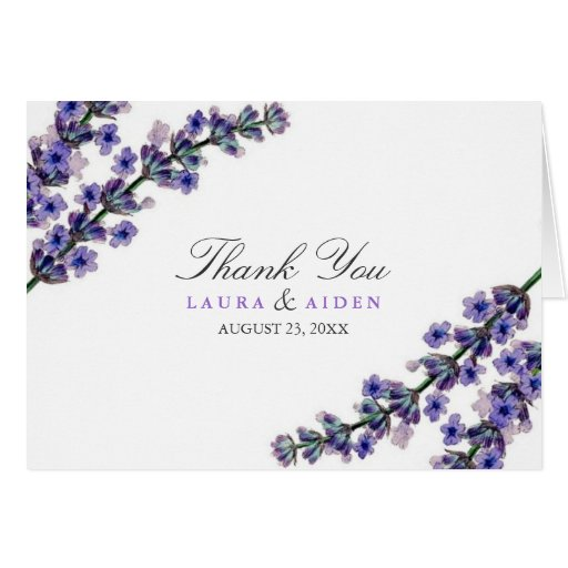 El boda floral de la lavanda elegante le agradece  felicitaciones