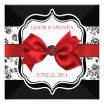 El boda floral del damasco invita con el arco invitación