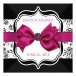 El boda floral del damasco invita con el arco comunicados