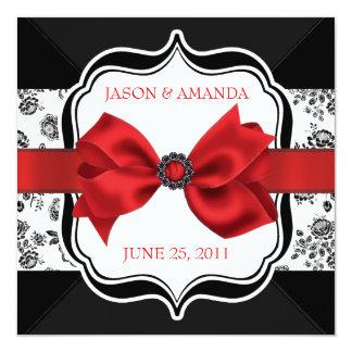 """El boda floral del damasco invita con el arco invitación 5.25"""" x 5.25"""""""