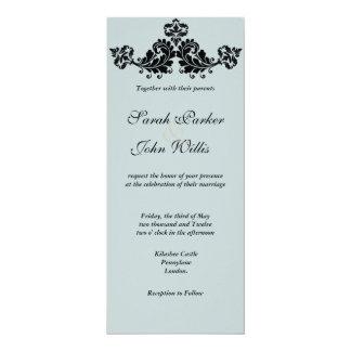"""El boda floral del Flourish invita Invitación 4"""" X 9.25"""""""