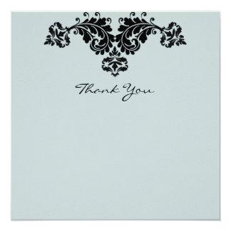 """El boda floral del Flourish le agradece Invitación 5.25"""" X 5.25"""""""