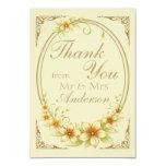 El boda floral del marco del vintage le agradece comunicados personalizados