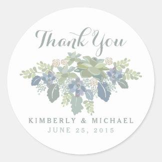El boda floral del ramo suculento le agradece