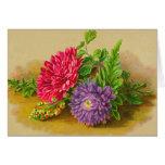 El boda floral del vintage le agradece las tarjeta