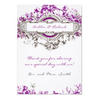 El boda floral del vintage púrpura de la lila le invitación