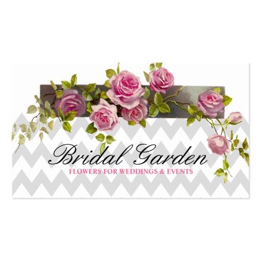 El boda florece al planificador del coordinador de tarjetas de visita