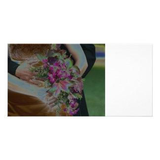 El boda florece las manos Solarized Tarjetas Personales