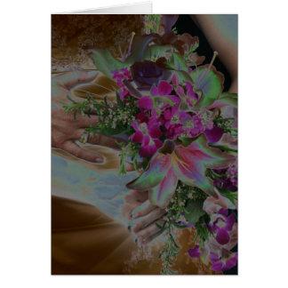 El boda florece las manos Solarized Tarjeta De Felicitación