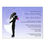 El boda formal de la silueta de encargo de Ombre Invitación 10,8 X 13,9 Cm