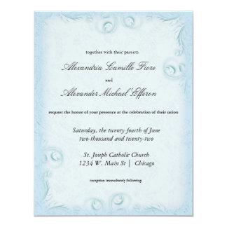 """El boda formal de Scrollwork del trullo elegante Invitación 4.25"""" X 5.5"""""""