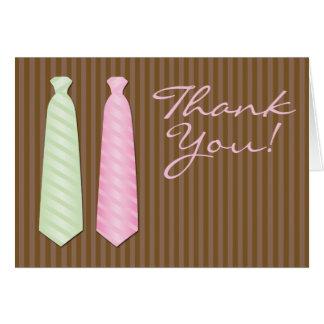 """El boda gay de la corbata """"le agradece """" tarjeta pequeña"""