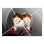 El boda gay de los novios lindos del vintage dos l tarjetas