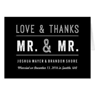 El boda gay de los pares le agradece cardar Sr. y Tarjeta De Felicitación