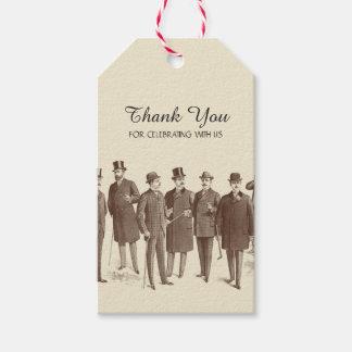 El boda gay le agradece marca estilo del vintage etiquetas para regalos