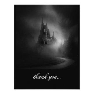 El boda gótico del castillo le agradece invitacion personal