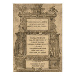 El boda gótico del grabar en madera medieval del invitación 12,7 x 17,8 cm